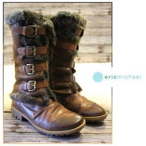 Four Buckle {Faux} Fur Lined Boots by Eric Michael